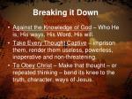 breaking it down1