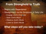 from stronghold to truth