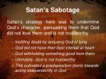 satan s sabotage