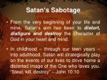 satan s sabotage1