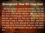 stronghold how we view god1