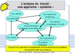 l analyse du travail une approche syst me