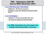 tms statistiques 2006 mp source inrs novembre 2007