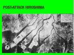 post attack hiroshima