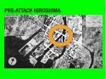 pre attack hiroshima
