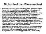 biokontrol dan bioremediasi