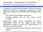 hydromine hydropower in cameroon partnership for cameroon s sustainable prosperity