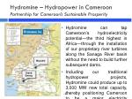 hydromine hydropower in cameroon partnership for cameroon s sustainable prosperity1