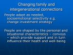 changing family and intergenerational connections2