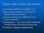 social roles of men and women