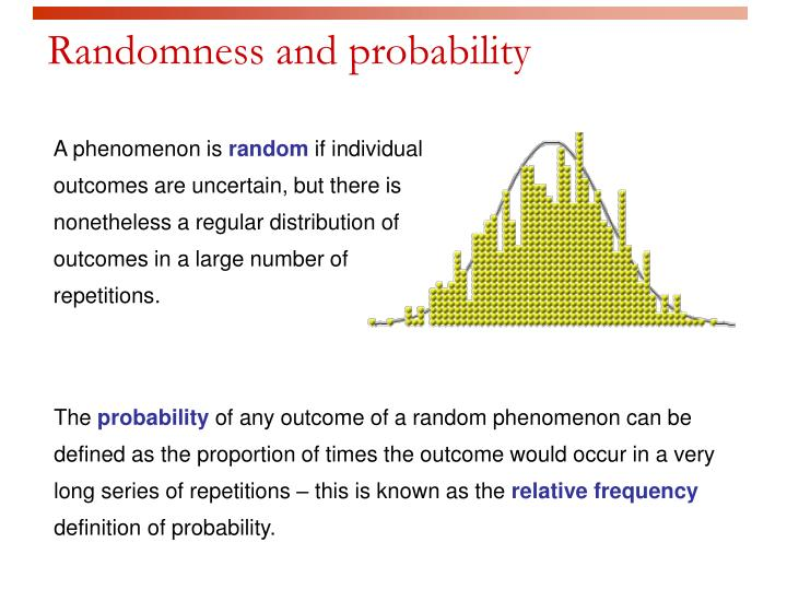 randomness and probability n.