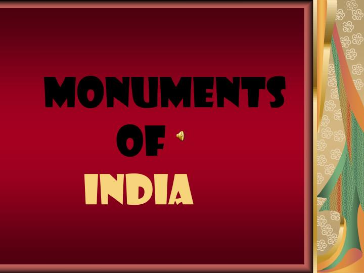 monuments of india n.