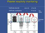platelet reactivity monitoring