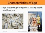 characteristics of ego