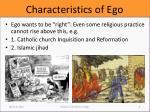 characteristics of ego2