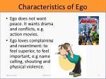 characteristics of ego3
