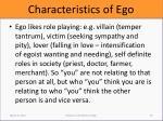 characteristics of ego4