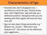 characteristics of ego5