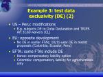 example 3 test data exclusivity de 2
