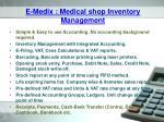 e medix medical shop inventory management