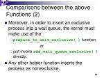 comparisons between the above functions 2