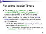 functions include timers