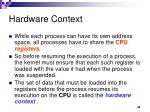 hardware context