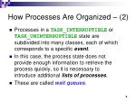 how processes are organized 2