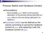 process switch and hardware context
