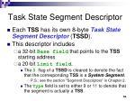 task state segment descriptor