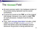 the thread field