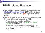 tssd related registers