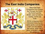the east india companies