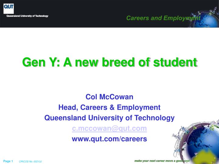 gen y a new breed of student n.