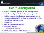 gen y background