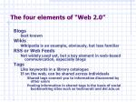 the four elements of web 2 0
