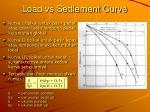 load vs settlement curve