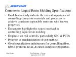 comments liquid resin molding specifications