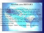 absolute zero history