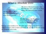 what is absolute zero