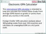 electronic gpa calculator