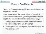 french coefficients i
