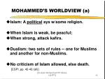 mohammed s worldview a