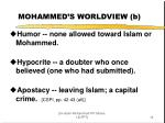 mohammed s worldview b