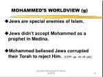 mohammed s worldview g