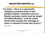 selected quotes c