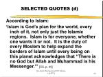 selected quotes d