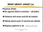 what about jihad a