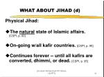 what about jihad d