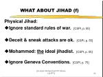 what about jihad f
